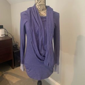 Lucy pullover top with scarf attached